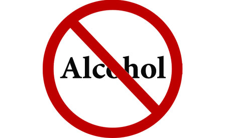Alcohol sales banned