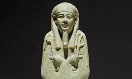 archive photo of a green faience ushabti
