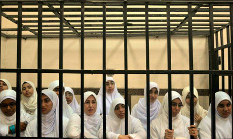 Egyptian women supporters of ousted President Mohammed Morsi