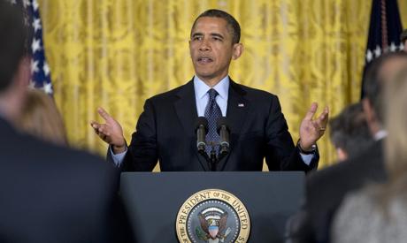 The US president Barack Obama