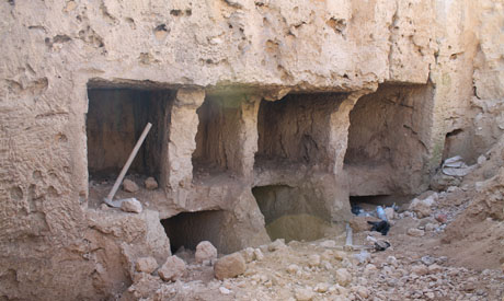 the discovered tombs