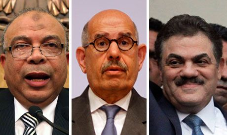 Katatni,  Baradei and Badawi