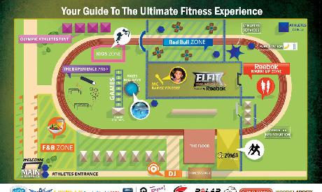EL FIT Festival map