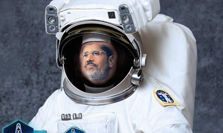 Morsi in a spacesuit