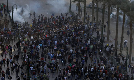 street near Tahrir Square in Cairo January 25, 2013 (Photo: Reuters