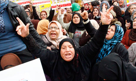 Hundreds of protesters rally againt Sexual harassment in Cairo