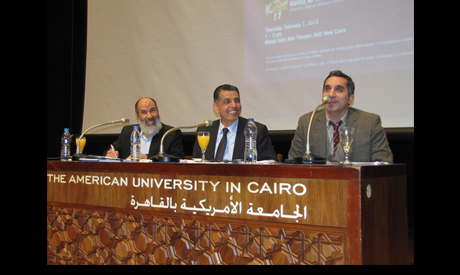Debating Political Satire: Fans or Foes at AUC, Thursday 7 February. Photo: Ayman Hafez