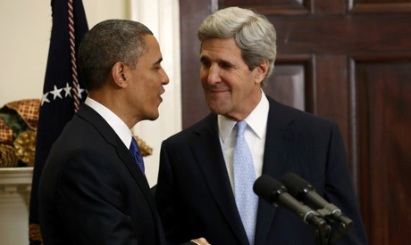 John Kerry and Obama