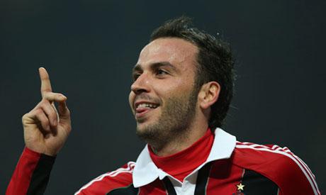 AC Milan forward Giampaolo Pazzini