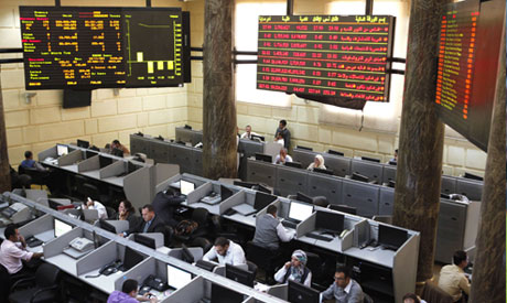 Egyptian stock market in Cairo