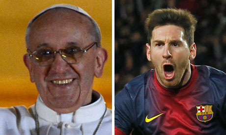 Messi and Pope