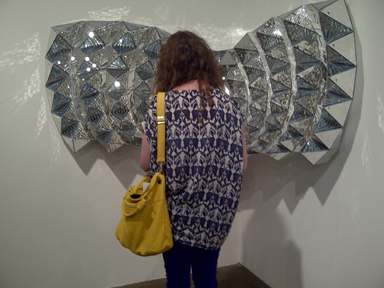 Mirror mosaic by Monir FarmanFarmaian at The Third Line Gallery. Photo: Sara Elkamel