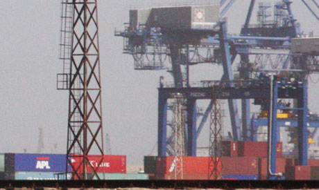 Containers at Port Said
