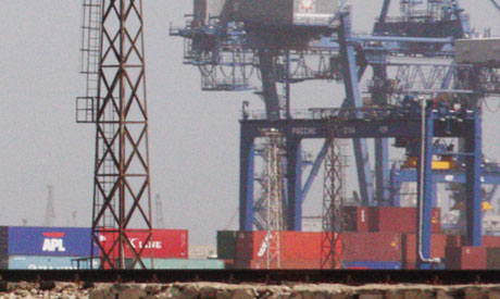 Containeres in port said seaport
