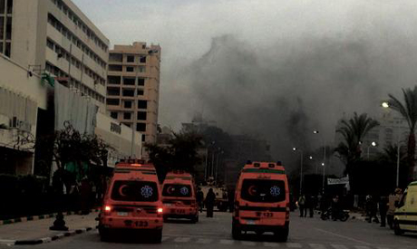 Ministry of health mobilised ambulances & hospital across city to treat the injured (Photo: Ahram)