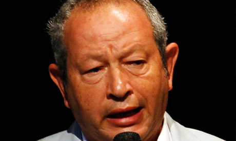 Egyptian businessman Naguib Sawiris