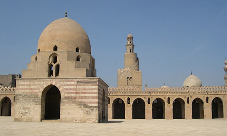 the open courtyard of Ibn Tulun