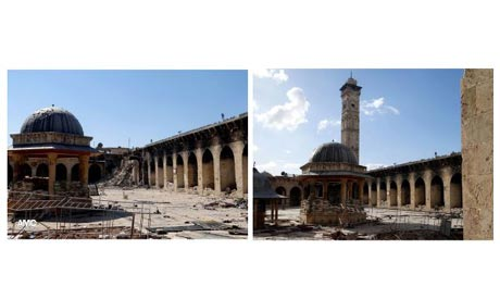 Minaret of Aleppo's Umayyad mosque destroyed - Africa Cup of