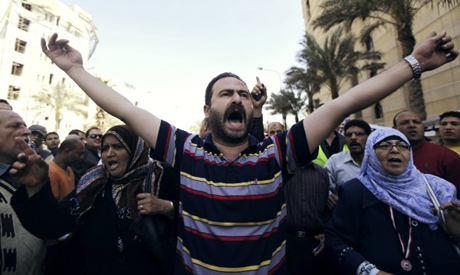 Protesters in solidarity with Sheikh of Al Azhar