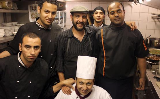 Chef Paco (centre) Chef Mostafa (below) with chef