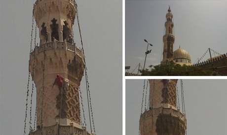 Painting work at Sayyeda Zeinab mosque