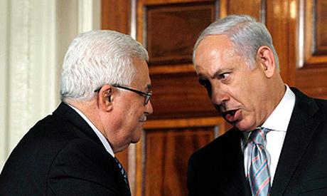 Abbas (left) and Netanyahu
