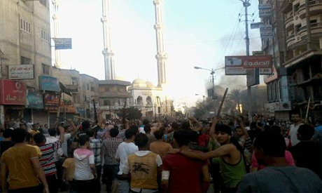 The clashes in Mansoura