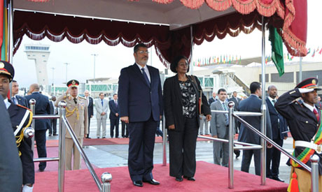 President Mohamed Morsi during his visit in Ethiopia