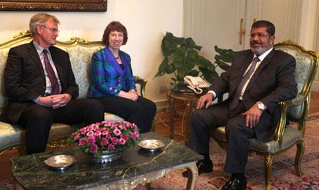 Morsi and Ashton
