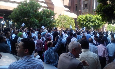 Employees Demonstrating