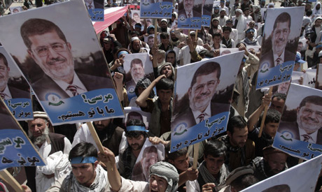 The protesters took to the streets of the Afghan capital after Friday