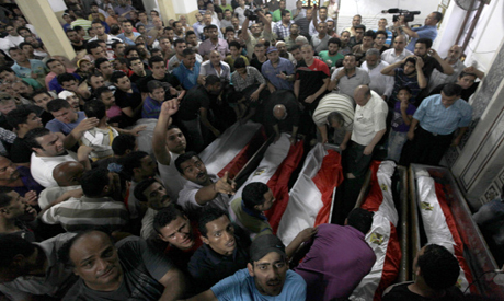 The funeral of Al Manial victims