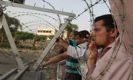 Supporters of deposed president Morsi