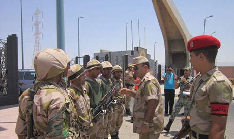 Egypt military soliders in Suez