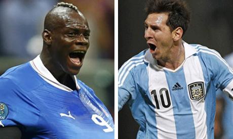 Messi and Balotelli