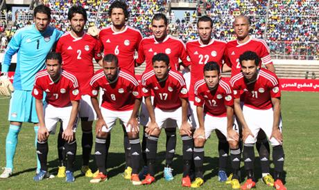 The Egyptian soccer team