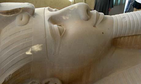 Ramses II statue at Mit-Rahina