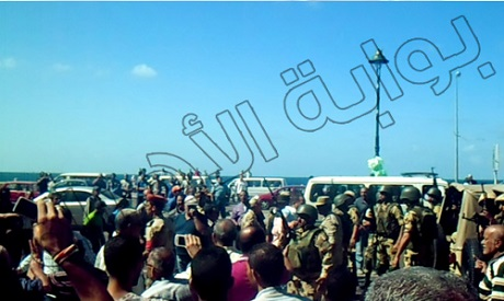 Security forces in Alexandria after the clashes