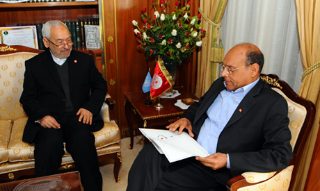 Rached Ghannouchi and Moncef Marzouki