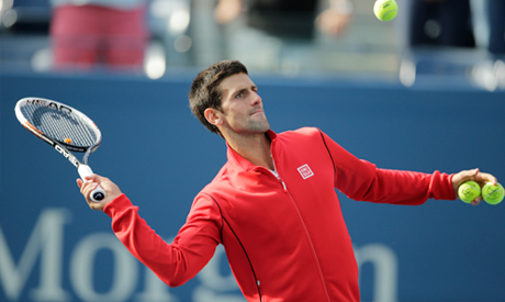 Novak Djokovic, of Serbia,