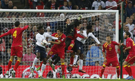 World Cup Group H qualification soccer match between England and Montenegro