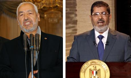 Rachid Ghannouchi and Morsi
