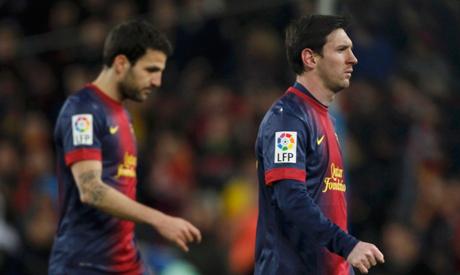 Messi and Fabregas