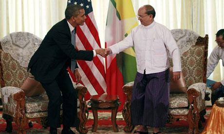 Obama, Thein Sein