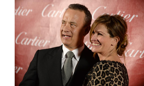 Tom Hanks and Julia Roberts at the Palm Springs International Film Festival Awards Gala on Saturday