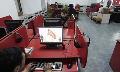 Turkish youth surfing the internet