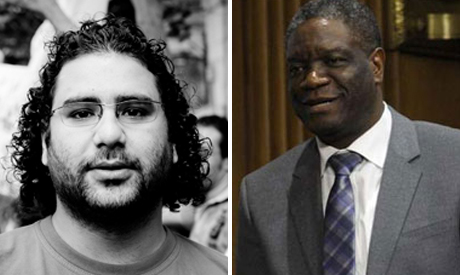 Alaa Abdel Fattah and Denis Mukwege