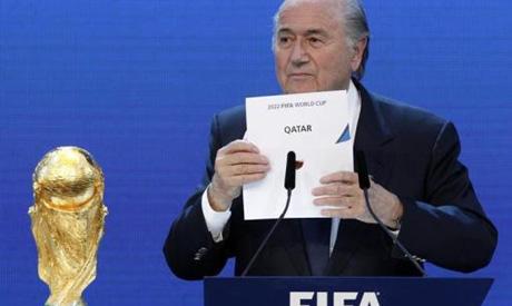 Blatter declaring Qatar the 2022 World Cup host nation