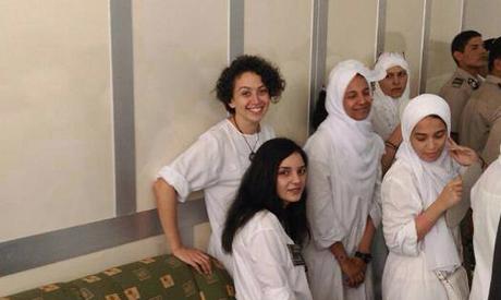Sanaa Seif with Yara Sallam