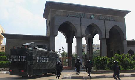 Police run towards Azhar University